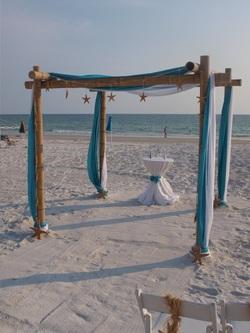 how to make beach wedding arch